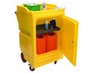 Polyethylene cart storage unit