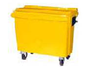 1,100 litres wheeled trash containers